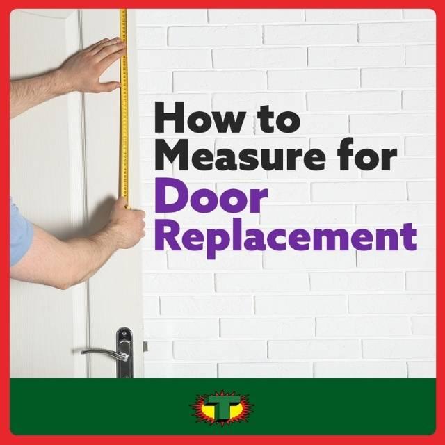 how to measure door for replacement