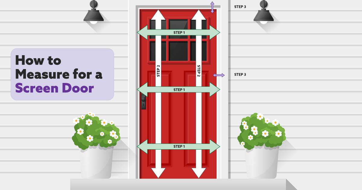 How To Measure a Door For Replacement screen door