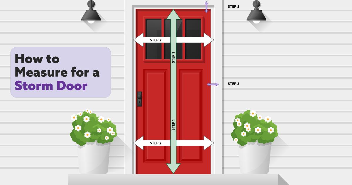 How To Measure a Door For Replacement storm door
